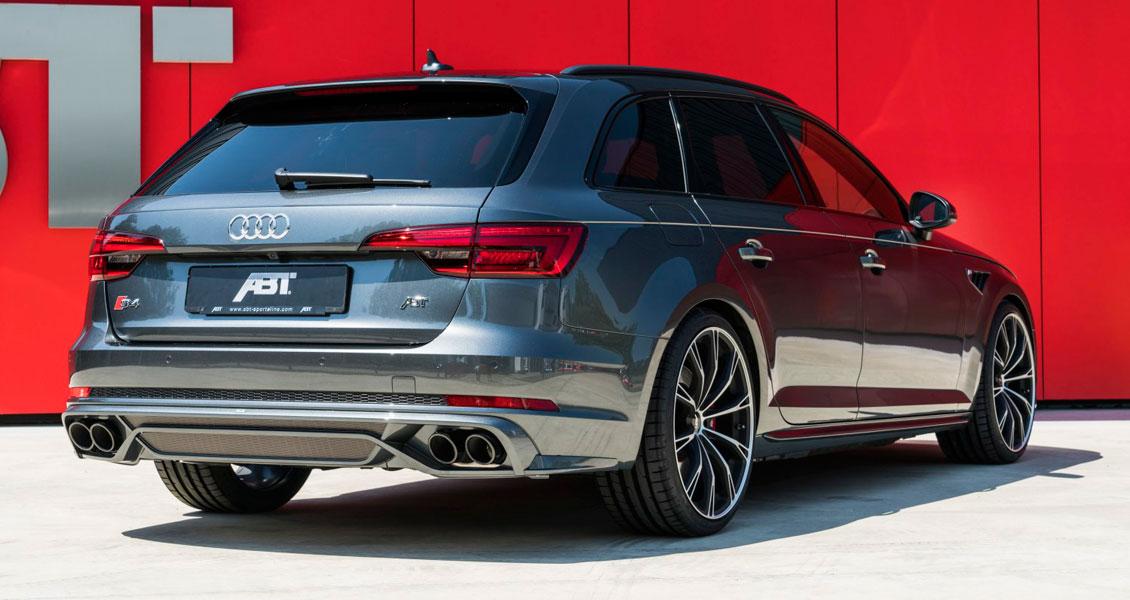 Тюнинг ABT для Audi S4 B9 2018 2017 2016. Обвес, диски, выхлопная система